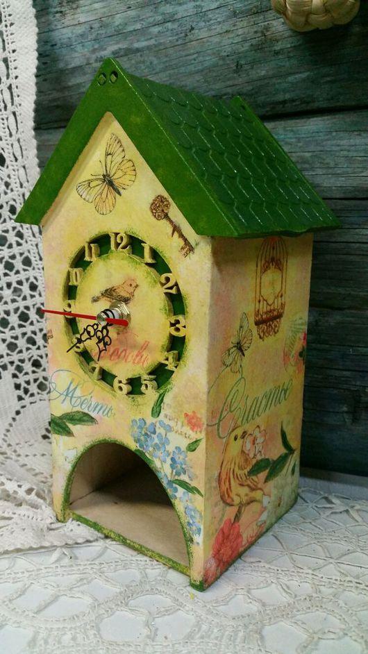Кухня ручной работы. Ярмарка Мастеров - ручная работа. Купить Чайный домик с часами. Райские птички. Handmade. Домик чайный