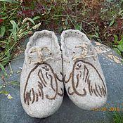 """Обувь ручной работы. Ярмарка Мастеров - ручная работа тапочки """"Мамонты"""". Handmade."""