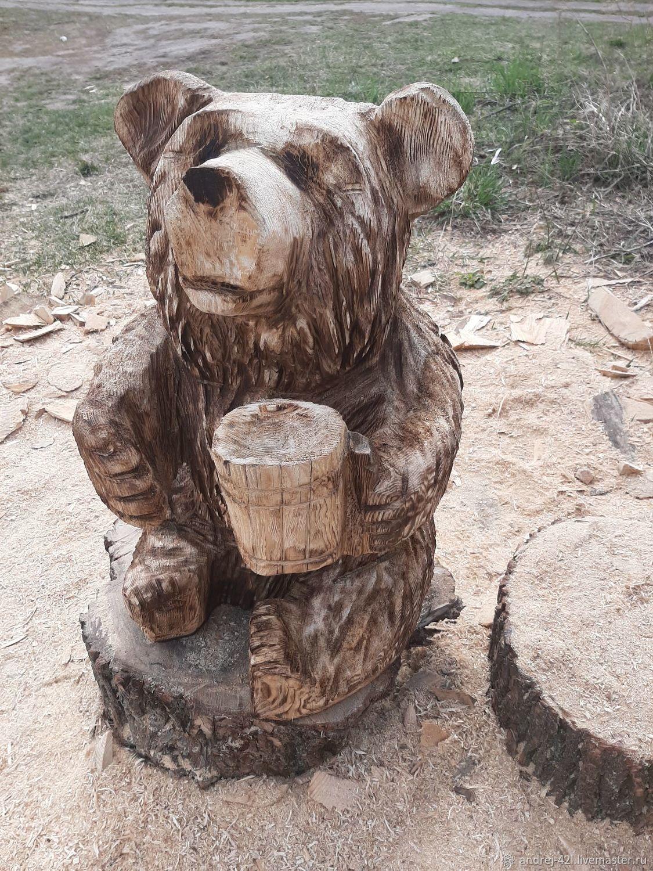 Статуэтки: Медведь с кружкой, Скульптуры, Москва,  Фото №1