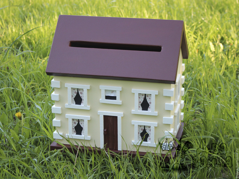 Свадебный домик для денег своими руками 15