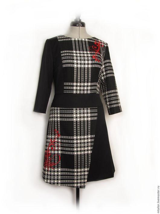 Платья ручной работы. Ярмарка Мастеров - ручная работа. Купить платье черное платье авторское платье с красной вышивкой. Handmade.