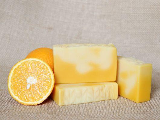 """Мыло ручной работы. Ярмарка Мастеров - ручная работа. Купить """"Апельсин и облепиха"""" натуральное мыло с нуля. Handmade. Оранжевый, обдепиха"""