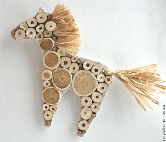 """Игрушки животные, ручной работы. Ярмарка Мастеров - ручная работа. Купить Елочная/интерьераная игрушка """"Белая лошадь"""". Handmade. Белый"""