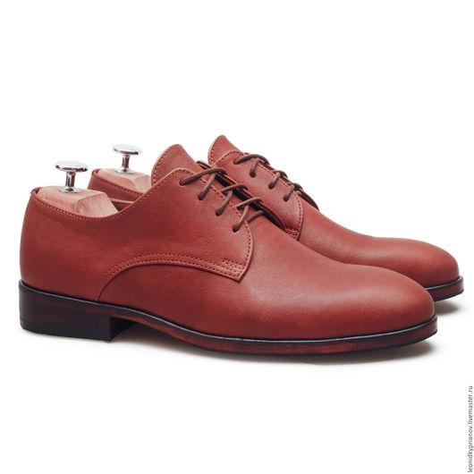 Обувь ручной работы. Ярмарка Мастеров - ручная работа. Купить Модель - Derby. Handmade. Коричневый, аксессуары ручной работы