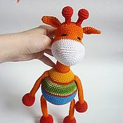 Куклы и игрушки ручной работы. Ярмарка Мастеров - ручная работа Жираф-погремушка. Handmade.
