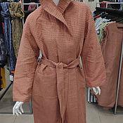 Одежда handmade. Livemaster - original item Linen waffle robe. Summer light robe. 100% linen. Softened.. Handmade.