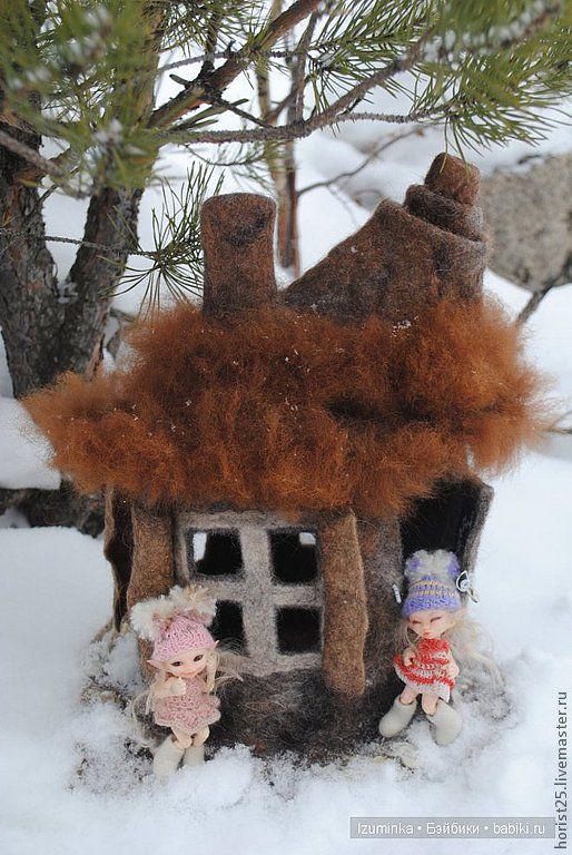 Подсвечники ручной работы. Ярмарка Мастеров - ручная работа. Купить домик для сказочных эльфов. Handmade. Коричневый, сказка, кукольный дом
