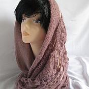 Аксессуары handmade. Livemaster - original item a little retro snood snood snood 2 beige knitted wool. Handmade.