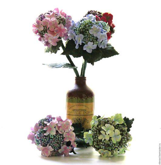 Цветы ручной работы. Ярмарка Мастеров - ручная работа. Купить Гортензия. Handmade. Голубой, hydrangea, интерьерный букет