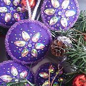 Подарки к праздникам ручной работы. Ярмарка Мастеров - ручная работа Елочные игрушки из фетра. Набор игрушек на елку 6шт. Handmade.
