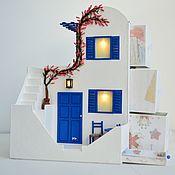 """Для дома и интерьера ручной работы. Ярмарка Мастеров - ручная работа """" Ах, Греция! """" Светильник - миникомод. Handmade."""