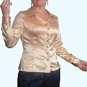 Одежда handmade. Livemaster - original item Women`s blouse GOLD satin-stretch.. Handmade.