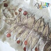 Аксессуары handmade. Livemaster - original item Silk scarf sumac - EcoPrint. Handmade.