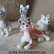 Куклы и игрушки ручной работы. Ярмарка Мастеров - ручная работа Семейка Хаски игрушки валяные. Handmade.