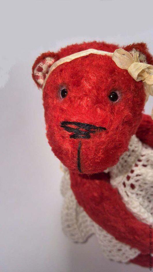 Мишки Тедди ручной работы. Ярмарка Мастеров - ручная работа. Купить Тося. Handmade. Ярко-красный, ручная работа