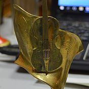 Винтаж handmade. Livemaster - original item Figurine figure in the Second Moscow competition of violinists. Handmade.