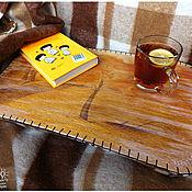 """Для дома и интерьера ручной работы. Ярмарка Мастеров - ручная работа Столик-поднос """"Осень. Отражение"""". Handmade."""