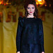 """Одежда ручной работы. Ярмарка Мастеров - ручная работа Войлочный костюм """"В стиле ретро"""". Handmade."""