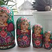 "Русский стиль handmade. Livemaster - original item Matryoshka ""In the Wreath"" 5 m. height. 17 cm. Handmade."