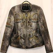Одежда ручной работы. Ярмарка Мастеров - ручная работа Куртка джинсовая мужская Драконы Роберто Кавалли. Handmade.