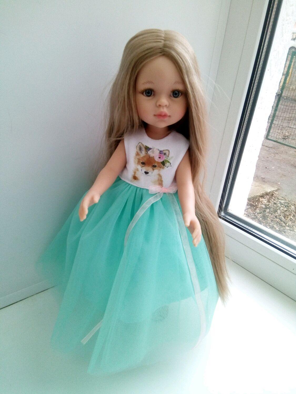 Нарядное платье с лисичкой для Паола Рейна, Одежда для кукол, Самара,  Фото №1