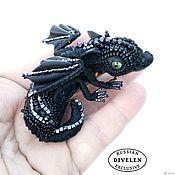 Украшения handmade. Livemaster - original item BLACK DRAGON.Brooch collectible Black dragon.. Handmade.