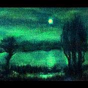 """Картины и панно ручной работы. Ярмарка Мастеров - ручная работа Картина """"Лунное озеро"""". Handmade."""