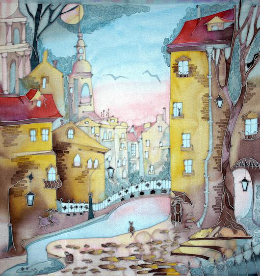Город ручной работы. Ярмарка Мастеров - ручная работа. Купить Панно Прогулка в Питере. Handmade. Панно, авторская картина