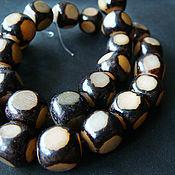 Материалы для творчества handmade. Livemaster - original item Beads the seeds of the tree of the Storm black and white cube. Handmade.