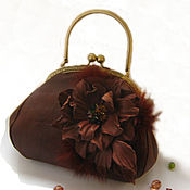 Сумки и аксессуары handmade. Livemaster - original item Bag with clasp:Women`s brown leather handbag CHARM. Handmade.