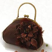 handmade. Livemaster - original item Bag with clasp:Women`s brown leather handbag CHARM. Handmade.