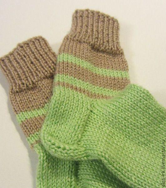 Носки, гольфы, гетры ручной работы. Ярмарка Мастеров - ручная работа. Купить Носочки для мальчика. Handmade. Зеленый, детское