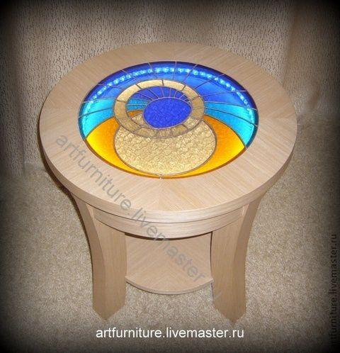 Мебель ручной работы. Ярмарка Мастеров - ручная работа. Купить Журнальный столик с подсветкой Космос. Handmade. Стол, чайный столик