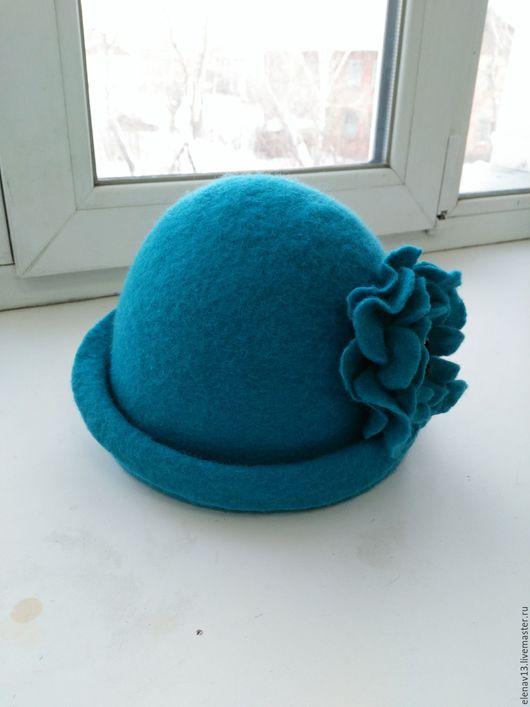 Шляпы ручной работы. Ярмарка Мастеров - ручная работа. Купить Шапка из валяной шерсти. Ручная работа. Handmade. Бирюзовый, кардочес
