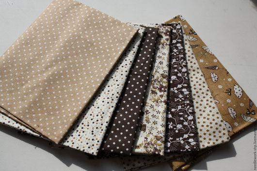 Шитье ручной работы.Ярмарка Мастеров- ручная работа. Купить Набор тканей Коричневый. Handmade.