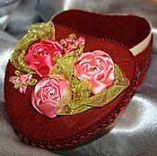 """Для дома и интерьера handmade. Livemaster - original item Box, flowers, ribbon, jewelry box with flowers """"Passion"""". Handmade."""