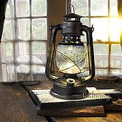 Настольные лампы ручной работы. Ярмарка Мастеров - ручная работа Керосиновая лампа на батарейках черная для фотосессии или дома. Handmade.