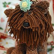 Куклы и игрушки ручной работы. Ярмарка Мастеров - ручная работа вязаная собака. Handmade.