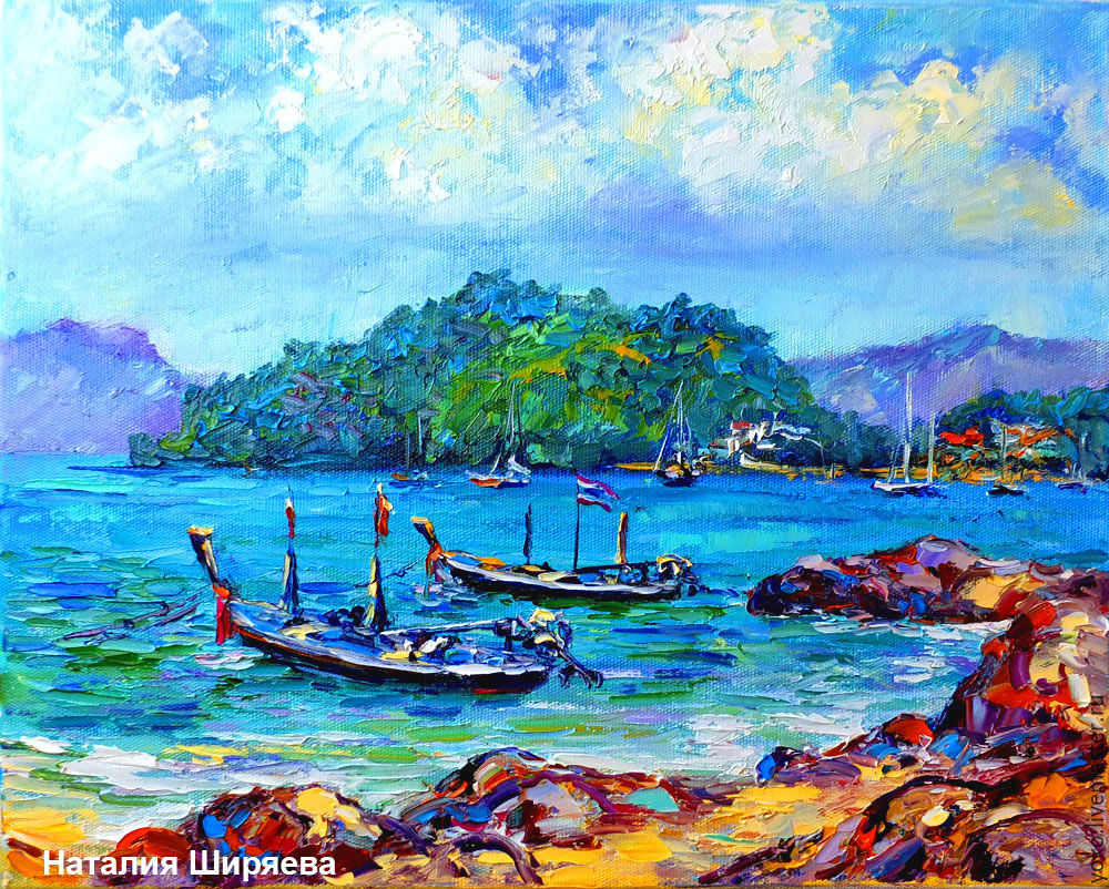 Painting with the sea 'Phuket. The Panwa beach in the Rainy Season' oil on canvas, Pictures, Voronezh,  Фото №1