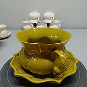 Посуда ручной работы. Ярмарка Мастеров - ручная работа Чайная пара. Handmade.