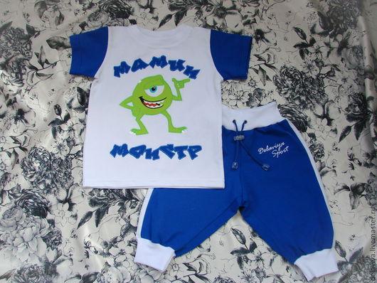 """Одежда для мальчиков, ручной работы. Ярмарка Мастеров - ручная работа. Купить Костюм летний """"Мамин монстр"""" - 2 от Делавьи. Handmade."""
