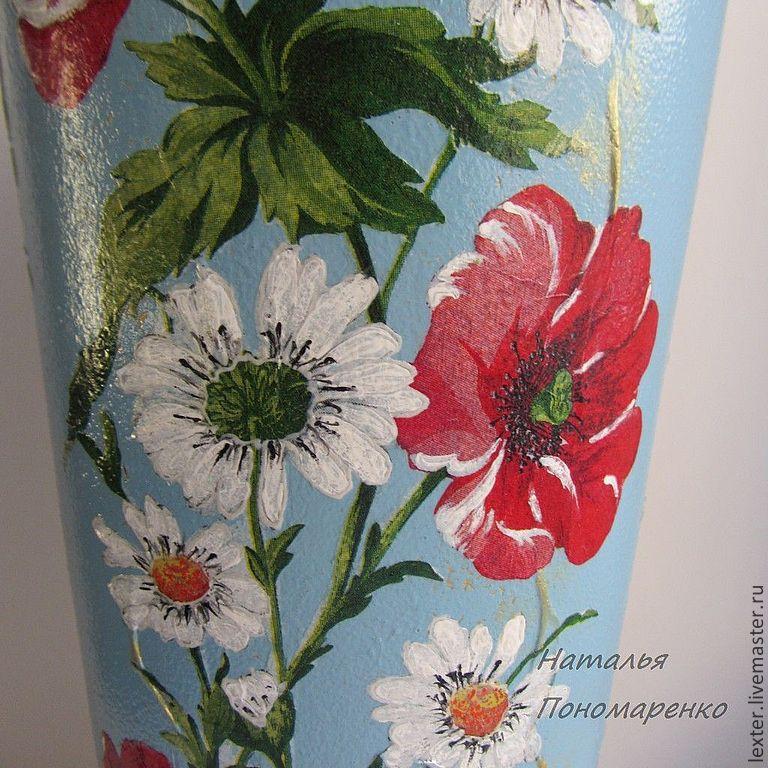 Вазы ручной работы. Стеклянная ваза  Очарование лета