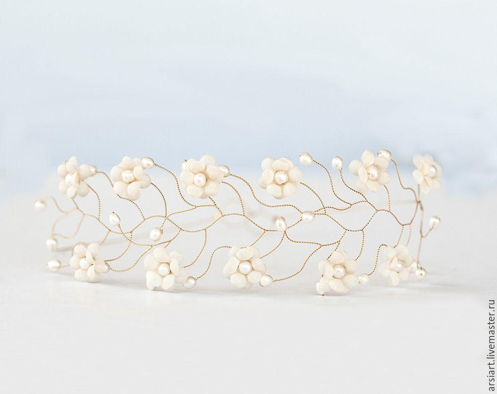 20 pearl crown wedding wreath of flowers in hair flower shop buy 20 pearl crown wedding wreath of flowers in hair izmirmasajfo