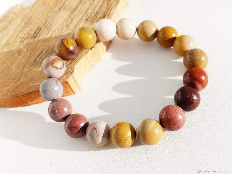 Bracelet made of Flourite Adelaide (Jasper rock) 10 mm, Bead bracelet, Gatchina,  Фото №1