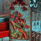 """Открытки ручной работы. Ярмарка Мастеров - ручная работа Открытка-бирка серия """"Дети-цветы""""  герань мальчик. Handmade."""