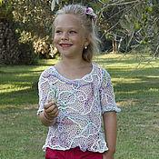 Работы для детей, handmade. Livemaster - original item Tunic cotton candy. Handmade.