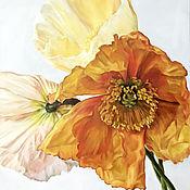 Картины и панно handmade. Livemaster - original item Oil painting with poppies