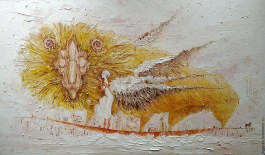 """Символизм ручной работы. Ярмарка Мастеров - ручная работа. Купить """"Осенние сны"""". Handmade. Лев, картина в интерьер, путешествие"""
