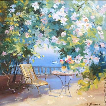 Картины и панно ручной работы. Ярмарка Мастеров - ручная работа Роза цветёт.60х60  живопись. Handmade.