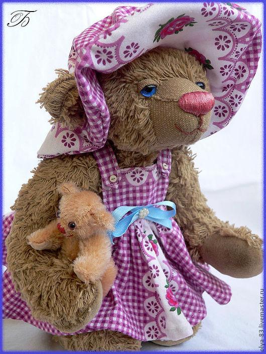 Мишки Тедди ручной работы. Ярмарка Мастеров - ручная работа. Купить Девочка с куклой. Handmade. Коллекционные мишки, текстиль, диски